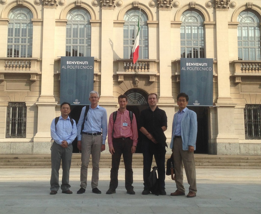 Image: From left to right, Professors Wei Lu, Daniele Ielmini, Thibaut Devolder, Mario Lanza and Hyunsang Hwang